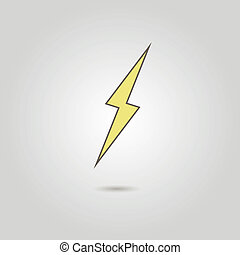 lightning icon with shadow