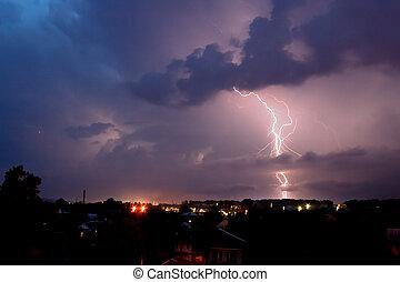 Lightning in the night