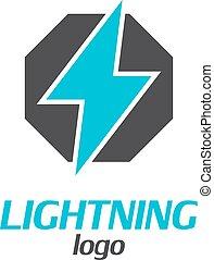 Lightning logo on a white background. Vector illustration