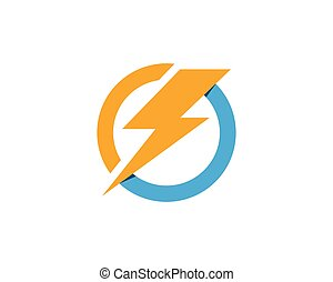 Lightning icon logo and symbols vector template  Lightning