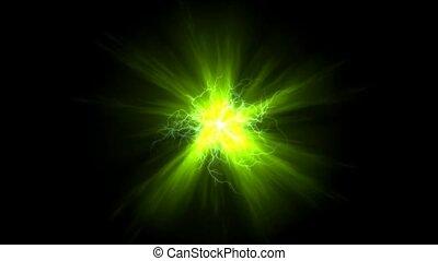 lightning magnetic field & green