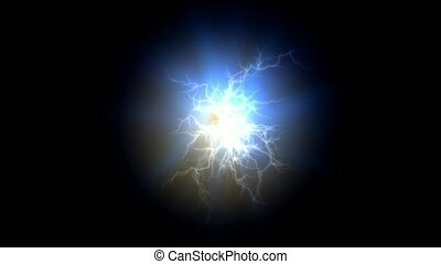 lightning, magnetic field, Negative