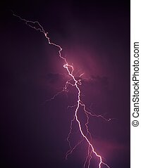 Lightning - northern Illinois - Lightning streaks through...