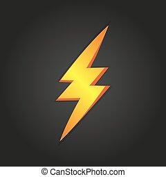 Lightning on a black background. Vector illustration eps10