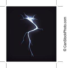 Lightning on black background