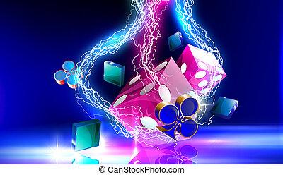 Lightning on casino dice - Lightning on casino purple...
