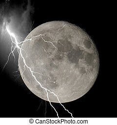 Lightning on the moon