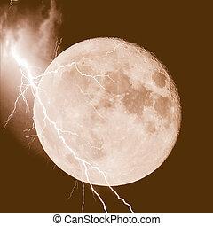 Lightning on the moon