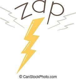 Lightning Onomatopoeia Sound Zap Illustration
