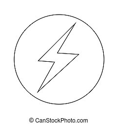 lightning, ontwerp, illustratie, pictogram