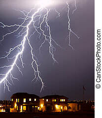 Lightning over home, Tucson AZ