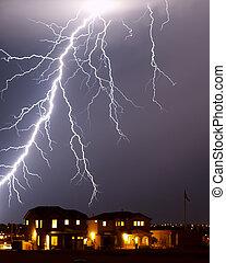 Lightning over home, Tucson AZ