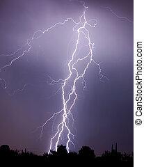 Lightning over the desert, Tucson AZ