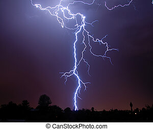 Lightning over the desert - Lighning over the desert, Tucson...
