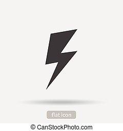lightning, pictogram, vector, is, type, eps10