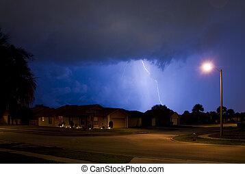 Lightning - Cloud lightning on a warm summer night