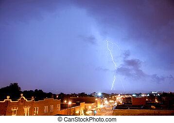 Lightning - lightning during a storm
