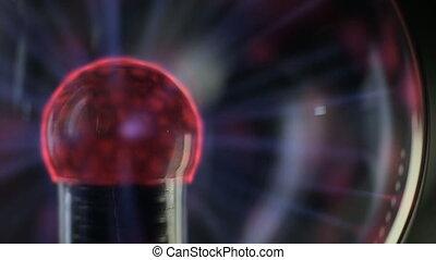 Lightning plasma ball on black