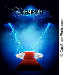 Lightning podium