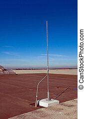 Lightning rod - Lighning rod on a roof