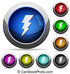 Lightning round glossy buttons
