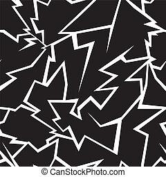 Lightning seamless pattern on a black background
