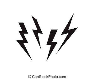 Lightning set logo vector