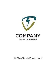 Lightning shield logo