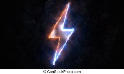 Lightning sign, plasma. Electricity sign. 51. - Lightning...