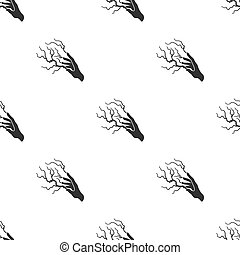 Lightning spell icon in black style isolated on white background. Black and white magic pattern stock vector illustration.