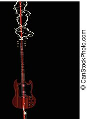 Lightning Stike Solid Electric - An electric guitar being...