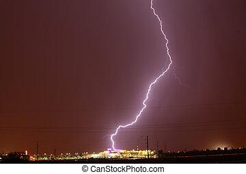 Lightning in Tucson AZ