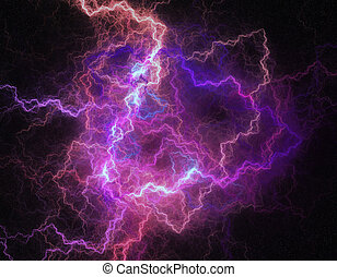 Lightning storm like space abstract background.