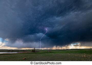 Lightning Storm over Plains