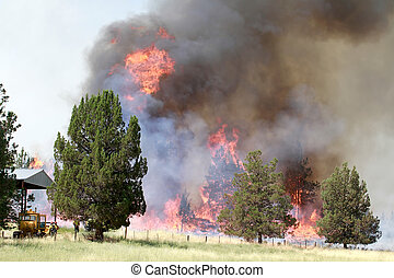 Lightning Strike Fire on Farmland 2