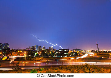 Lightning Strike Over Denver