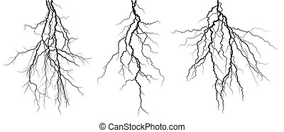 Lightning stroke. - A lightning stroke in the night sky.