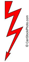 Lightning symbol illustration