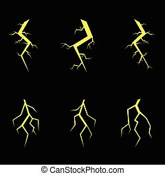 Lightning symbol set