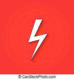 Lightning symbol vector illustration