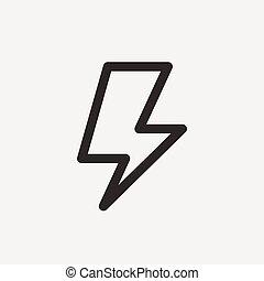 lightning thin line icon