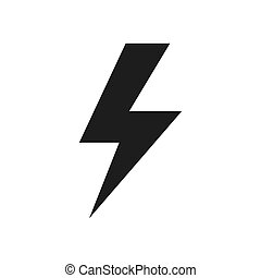 Lightning vector icon in modern design style for web site and mobile app