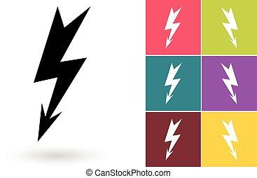 Lightning vector icon