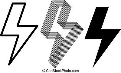 lightning vector symbols