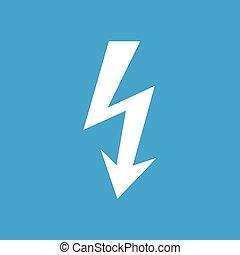 Lightning white icon