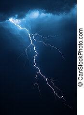 Lightning with dramatic cloudscape - Lightning with dramatic...