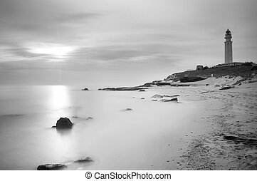 Lightouse Black & White - The lighthouse near Cadiz where...
