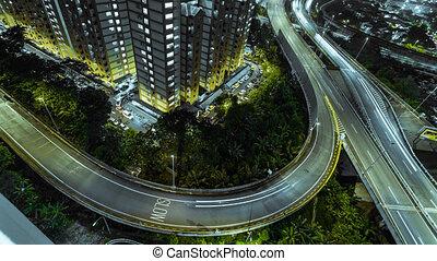 Lightrails Kuala Lumpur Busy Hiway