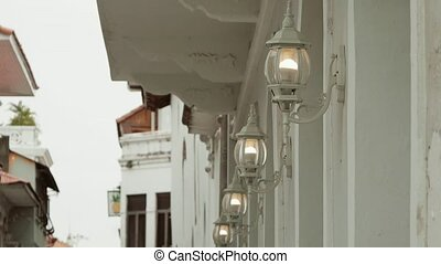 Lights And Old Street Lamps In Casco Antiguo Panama
