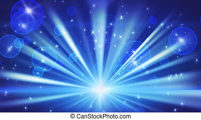 lights and shining stars. Computer generated seamless loop abstract motion blue background